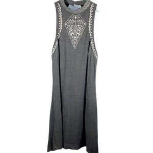 Love, Fire Embroidered Adjustable Shift Dress M